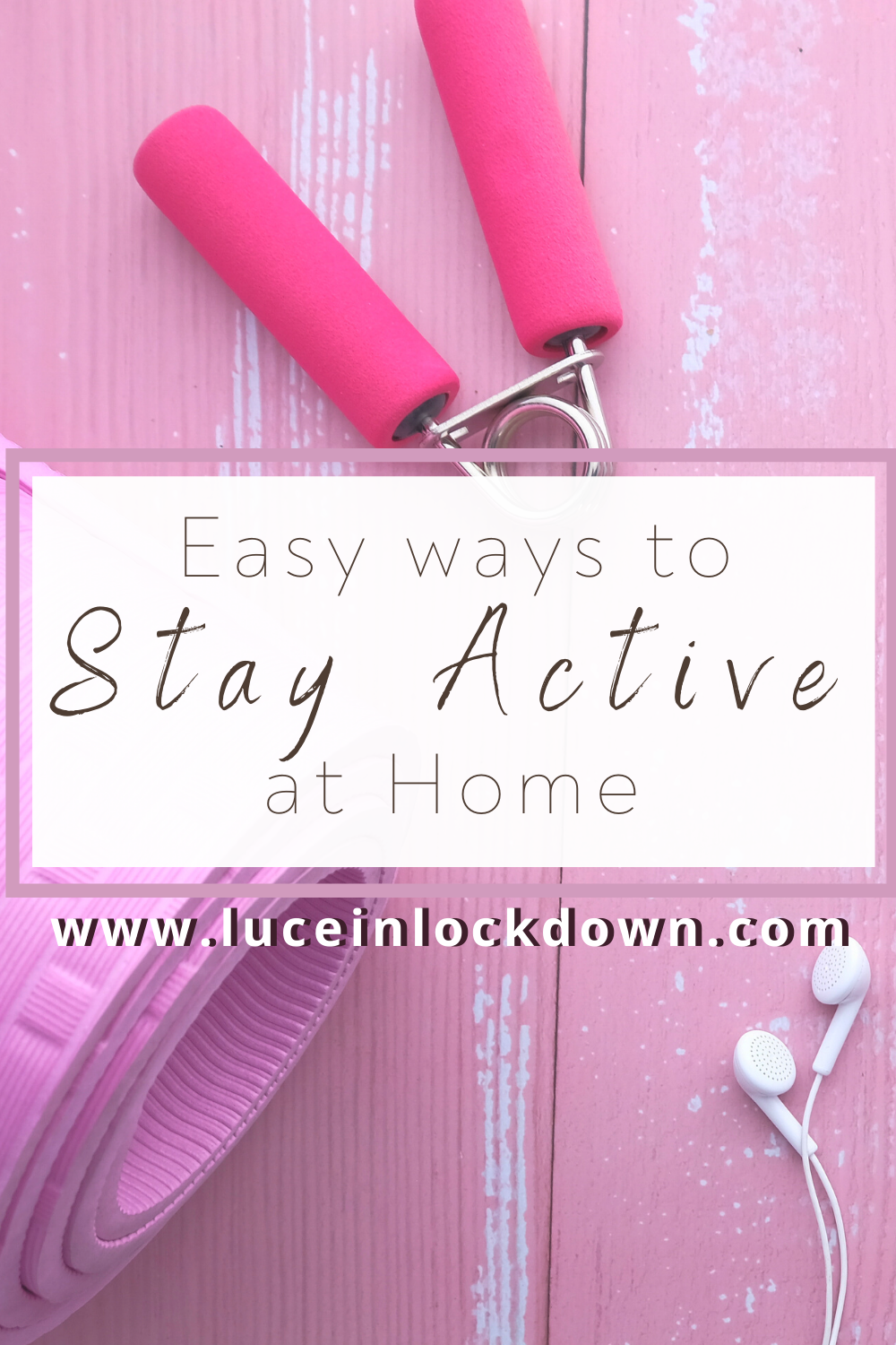 Staying active at home - pin